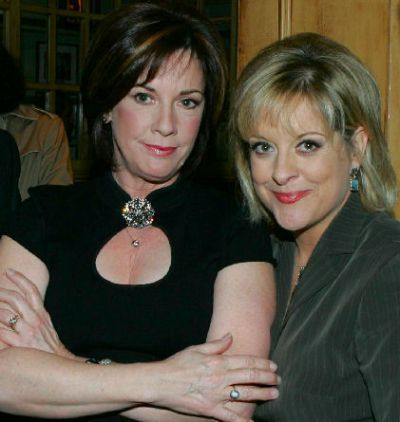 DD with too much makeup (!) and Nancy Grace - NYC book release, Nov. 2005