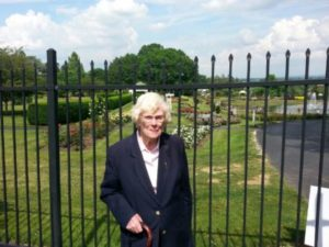 Mrs. Winstanley Outside Masonic Village Campus