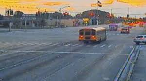 School Bus Driver Caught Running Red Light in Miami