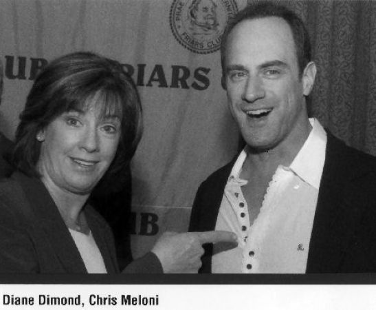 31 Diane and Actor Chris Meloni at the NYC Friars Club