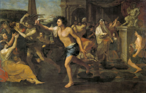 "Artist Andrea Camassei's ""Lupercales""depicting the ancient mid-February Lupercalia Festival - wikimedia"