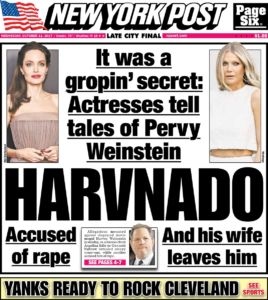 After the initial charges were filed in New York more than 90 women, many of them movie and TV stars, went public.