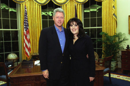 Bill Clinton and Monica Lewinsky in Oval Office 1997 - wikimedia commons