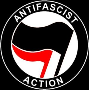 Antifa purports to fight fascism. The group sees the Trump administration as fascist, Nazi-like. This is the group's logo.
