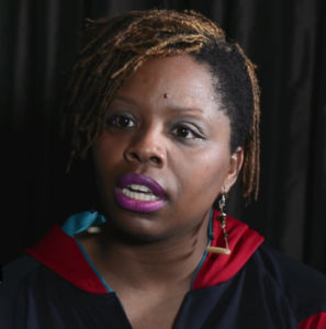 Screenshot from video of Patrisse_Cullors, youtube common license, Author: The Laura Flanders Show