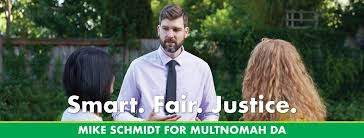 The Facebook banner on District Attorney Mike Schmidt's public page