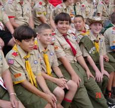Unidentified boy scouts - wikimedia commons